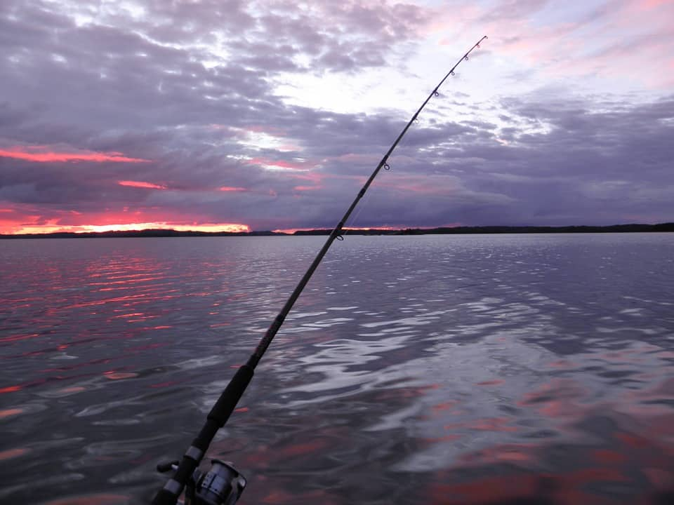Trolling Fishing Sunset