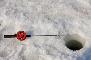 Fishing Rod Hole Ice Winter