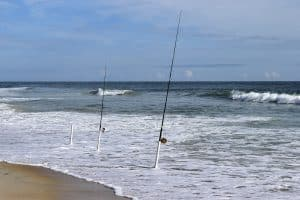 Surf Fishing Ocean Surf Waves Beach Fishing Rods