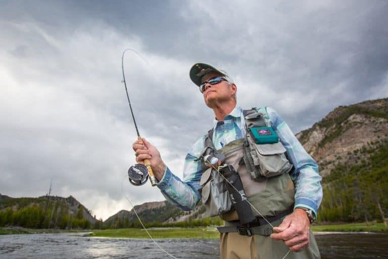 man Fly fishing outdoors