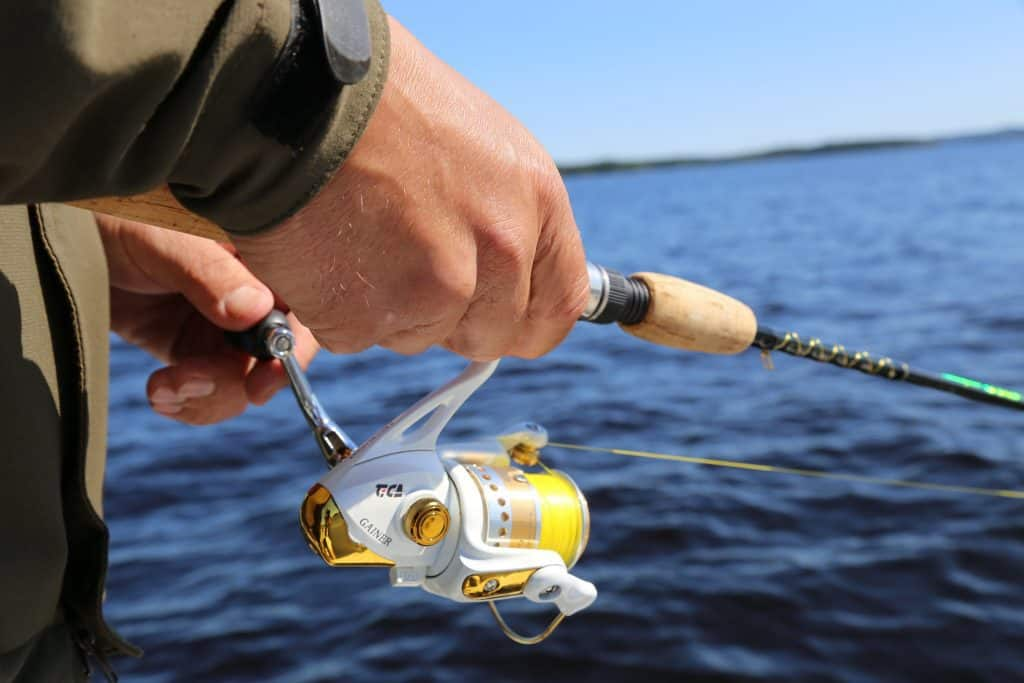 new yellow spinning reel